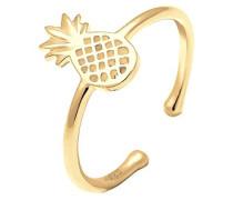 Ring Ananas Sommer Statement 925 Silber vergoldet 0604242216