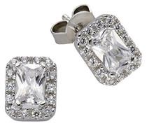 Damen-Ohrstecker 925 Sterling Silber rhodiniert Zirkonia  Silver weiß 360221763