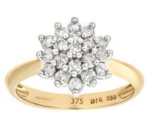 Damen-Ring Silber 35 Amethyst