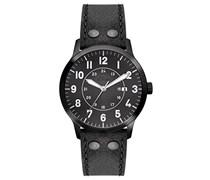 s.Oliver Herren-Armbanduhr XL Analog Quarz Leder SO-2976-LQ