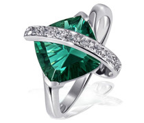 Goldmaid Damen-Ring 925 Sterlingsilber SmaragdgrünGr. 54 Fa R2605S54