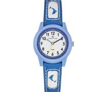 Certus-647584-Armbanduhr-Quarz Analog-Weißes Ziffernblatt-Armband Kunstleder blau