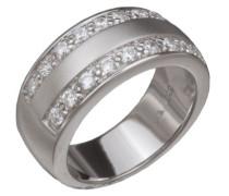 Damen-Ring 925 Sterling Silber rhodiniert Zirkonia