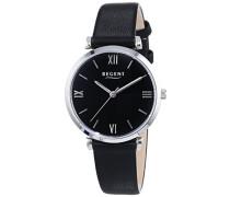 Regent Damen-Armbanduhr XS Analog Quarz Leder 12111130