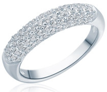 Damen-Ring 925 Sterling Silber Zirkonia weiß - Silberring mit Steinen in Pavé-Fassung 60800059