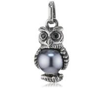 Damen- Anhänger 925 Silber Perle Brillantschliff Zirkonia grau LD OW 31- B