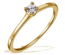 Damen-Ring Solitär Jana Solitär Ring Jana 0.10 ct. 585 Gelbgold Diamant (0.10 ct) weiß Brillantschliff