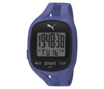 Puma Unisex Armbanduhr Digital II Air mit LCD Display und blauer PU Strap PU911141004