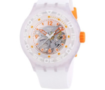 Swatch Herren-Armbanduhr XL Clownfish Analog Quarz Kautschuk SUUW100