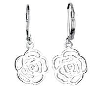 Damen-Ohrhänger Rose 925 Silber - 0301872315