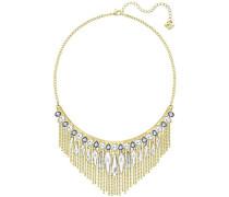 Damen-Collier teilvergoldet Kristall weiß 38 cm - 5260592