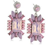 Damen-Ohrhänger Metall 40 Glaskristalle rosa 30 mm 3087