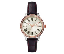 Damen-Armbanduhr Analog Quarz Leder A12654M