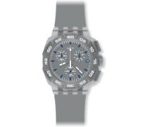 Swatch Herren-Armbanduhr Gray Hero SUIM402
