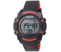Puma Laptoptasche Bytes Unisex-Armbanduhr Digital-Anzeige und Schwarz PU Strap PU911221001