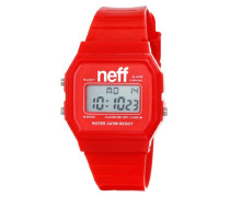 NEFF Unisex-Armbanduhr Flava Digital Quarz Rot NF0204RD