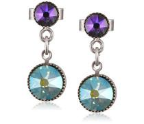 Damen-Ohrhänger Waterfalls Messing Glas mehrfarbig - 5450543307572
