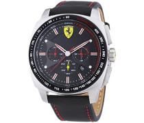 Ferrari Herren-Armbanduhr XL AERO EVO Chrono Analog Quarz Textil 830166