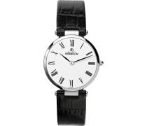 Damen-Armbanduhr 17343/01N Damen-Armband, Leder, Farbe: schwarz