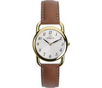 17477/P28GO Damen Armbanduhr, Leder, Braun
