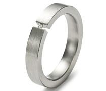 Damen-Ring Edelstahl 1 Diamant 0,02 ct weiß