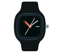 Unisex-Armbanduhr Analog Quarz Plastik schwarz AL10010