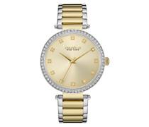Caravelle New York Damen-Armbanduhr T-BAR Analog Quarz Edelstahl beschichtet 45L154