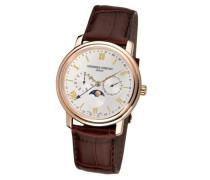 Herren-Armbanduhr Analog Quarz Leder FC-270SW4P5