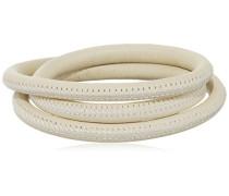 Damen-Armband Nude 3-reihig Edelstahl Leder 60.0 cm - 12112-60
