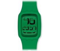 Swatch Unisex-Armbanduhr Touch Green Digital Quarz Plastik SURG102