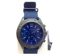 Herrenuhr Chronograph Quarz mit Stoffarmband – NAI22508G