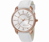 Damen-Armbanduhr Labyrinthe Analog Quarz Leder Swiss Made