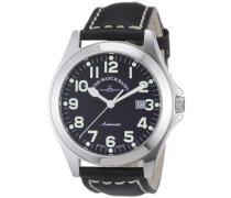 Herren-Armbanduhr XL Ghandi Analog Automatik Leder 8112-a1
