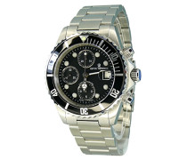 Herren-Armbanduhr XL Diver Chronograph Automatik Edelstahl 17571.7137