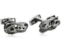 Herren-Manschettenknöpfe, Motiv T-Rex-Silber