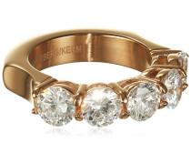 Damen-Ring rotgold Zirkonia transparent
