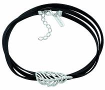 Damen-Halskette Sterling-Silber 925 4,5g Zirkonia Weiß 18 cm 10106115
