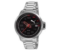 PUMA Unisex-Armbanduhr Analog Quarz Edelstahl PU103281002