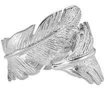 Dower Hall Halskette mit Feder-Anhänger Sterling-Silber 925 Diamant Ring, &