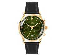 Unisex-Armbanduhr Chiswick Chronograph Quarz Leder HL41-CS-0106
