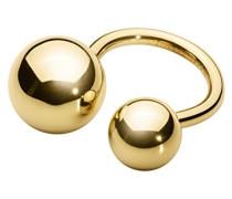 Dyrberg/Kern Damen-Stapelring 16/01 Manon Iiii Shiny Gold Edelstahl teilvergoldet Gr. 60 (19.1) - 339333