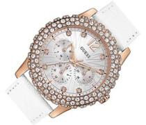 Damen-Armbanduhr Chronograph Quarz Leder W0336L3