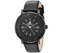Armbanduhr für Damen mit Analog Anzeige, Quarz-Uhr und Lederarmband - Wasserdichte Damenuhr mit zeitlosem, schickem Design - klassische, elegante Uhr für Frauen - BM537-622 St. Lucia