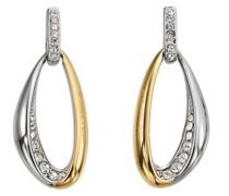Damen-Ohrringe Edelstahl Zirkonia D31121SDZ-gold