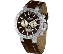 Herren-Armbanduhr XL  Chronograph Quarz Leder 1-1759E