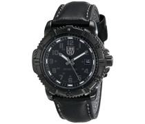 Herren-Armbanduhr XL Analog Quarz Leder 7251.BO