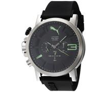 Herren-Armbanduhr PU-Ultrasize 50 Bold luminous Analog Quarz Kautschuk PU103981005