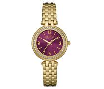 Caravelle New York Damen-Armbanduhr MINI T-BAR Analog Quarz Edelstahl beschichtet 44L174