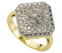 Diamonds by Ellen K. Damen-Ring 925 Sterlingsilber bicolor 1 Diamant 0,0106ct. Gr. 66 358270383V-021