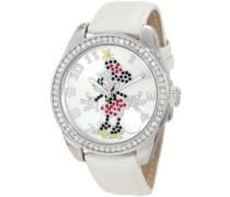 Disney by  Damen-Armbanduhr Analog Formgehäuse Silber 25741